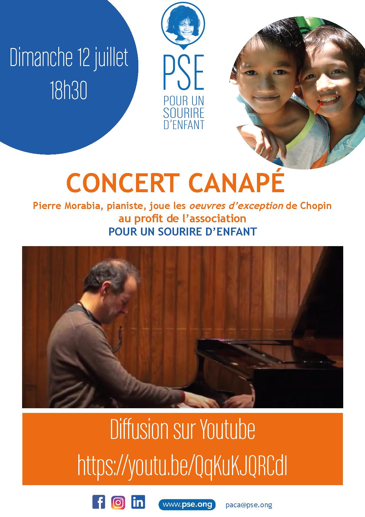 Affiche du concert canapé organisé par PSE PACA le dimanche 12 juillet 2020
