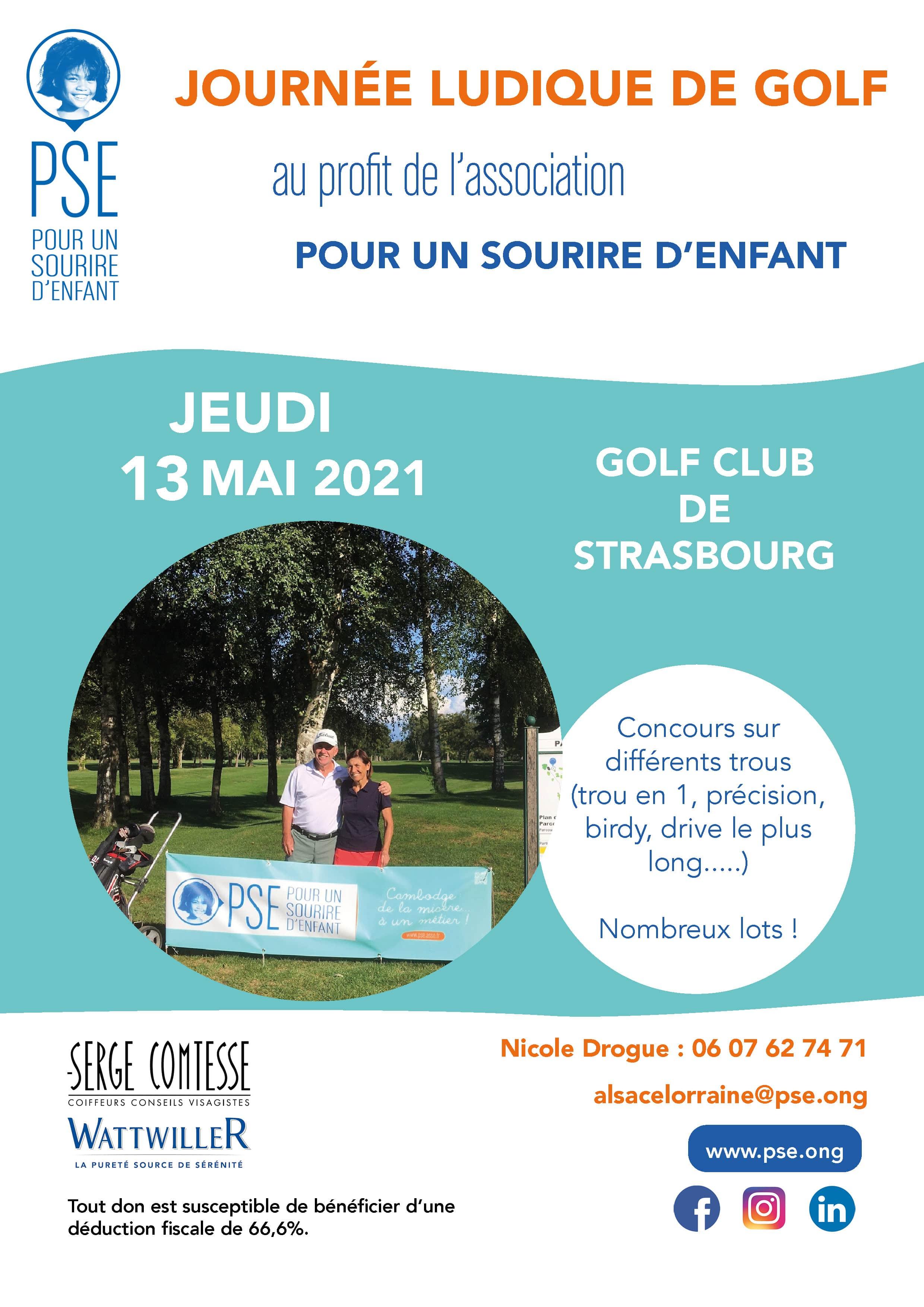 Affiche Journée ludique de golf 2021