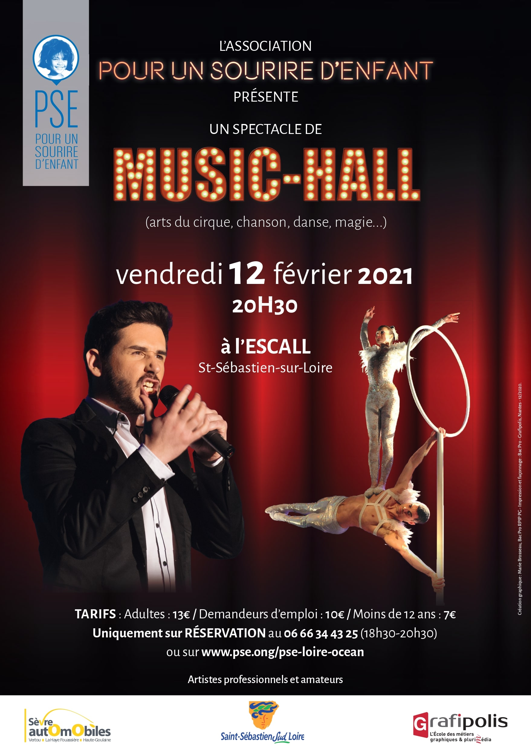 Affiche du spectacle de Music Hall