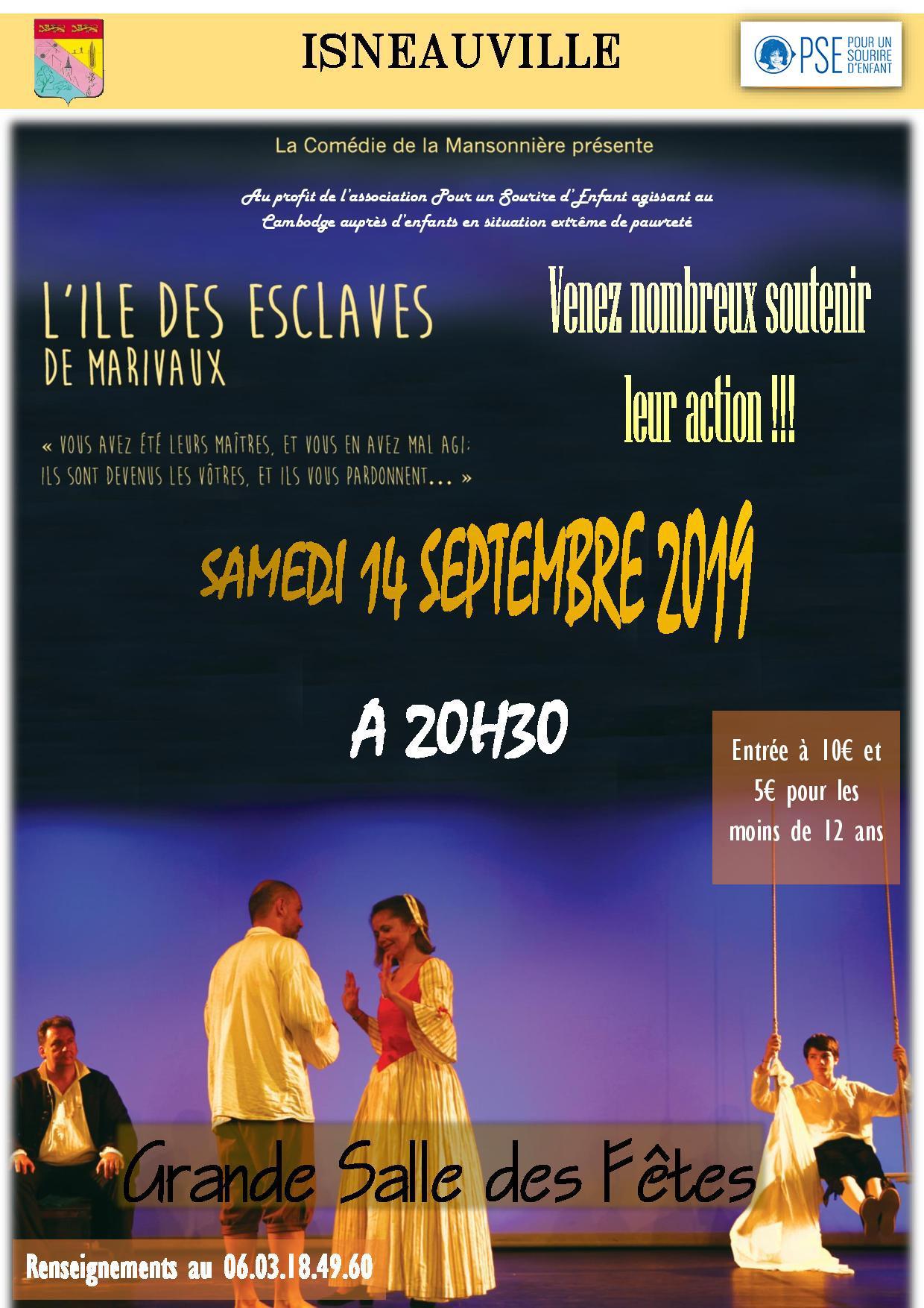 Affiche soirée théâtre organisée par PSE Haute Normandie en septembre 2019