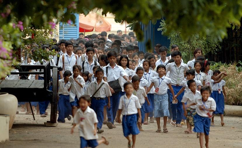 Les enfants de PSE à la sortie des classes