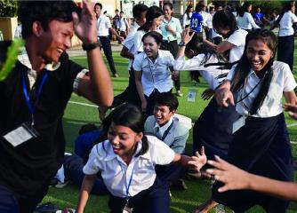 Des jeunes de PSE en train de s'amuser