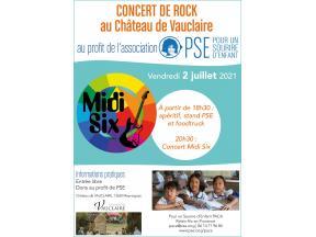Affiche concert de rock PACA juillet 2021