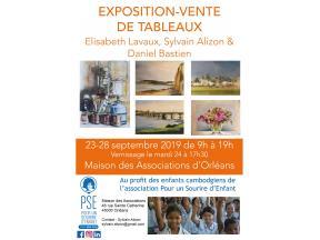 Affiche de l'expo-vente de tableaux à Orléans en septembre 2019