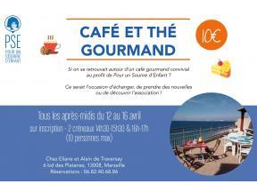Affiche Café / thé gourmand au profit de Pour un Sourire d'Enfant