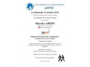 Flyer de la 8e édition de la Marche ADEPS