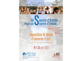 Affiche de l'expo-vente à Aix les 4 et 5 juin 2021