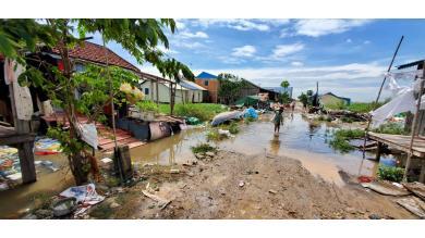 Un village inondé
