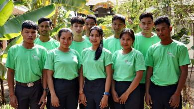 Les jeunes de la formation en agroécologie