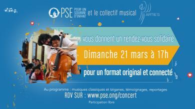 Flyer rendez-vous solidaire et musical avec PSE et Artie's