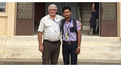 Yannick Dupont avec Lenoun, un jeune diplômé de PSE