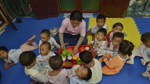 Dans notre centre de nutrition, les bébés les plus fragiles sont pris en charge jusqu'à leur rétabli