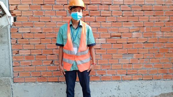 Pann Reaksmey, étudiant en construction en apprentissage chez Win Fair Engineering