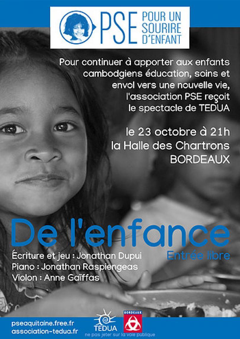 """Affiche du concert-spectacle """"De l'Enfance..."""""""