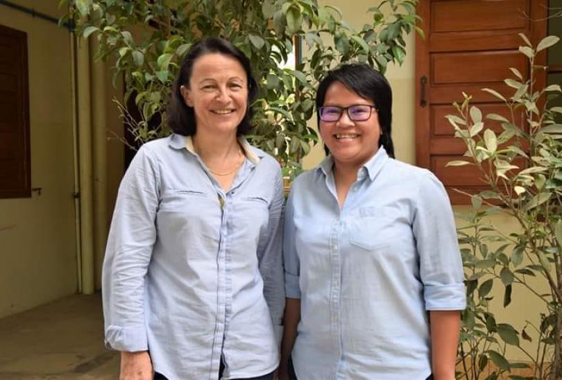Christine Gaulier et Leakhena des Pallières