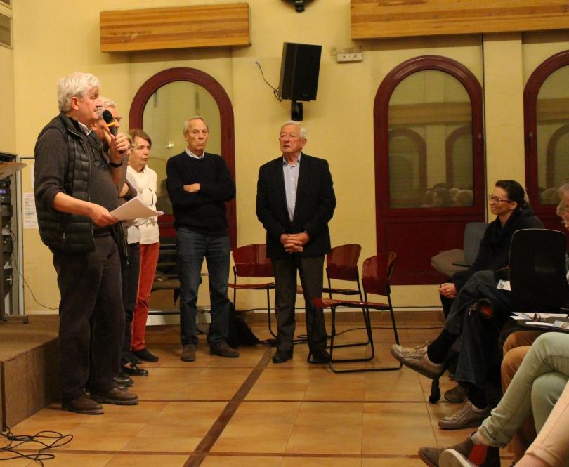 Thierry de Jabrun intervient lors d'une soirée de Tournée de PSE
