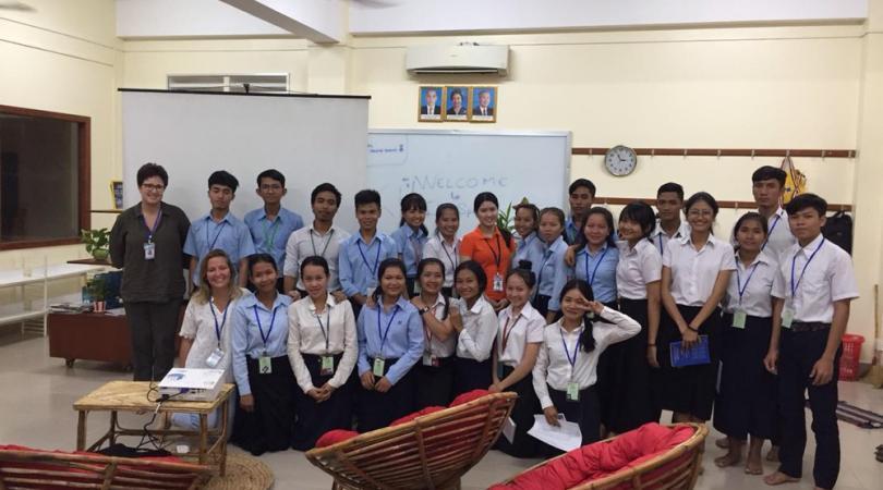 Les étudiants de l'Ecole de Gestion et Vente