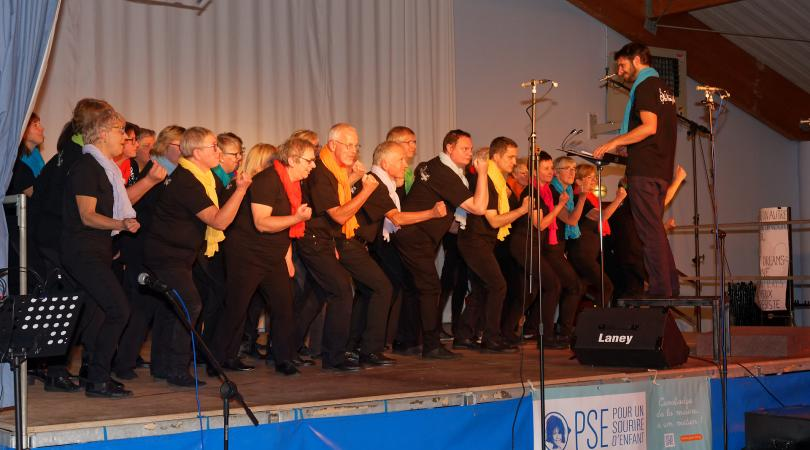 Les choristes de la chorale Bonne Nouvelle