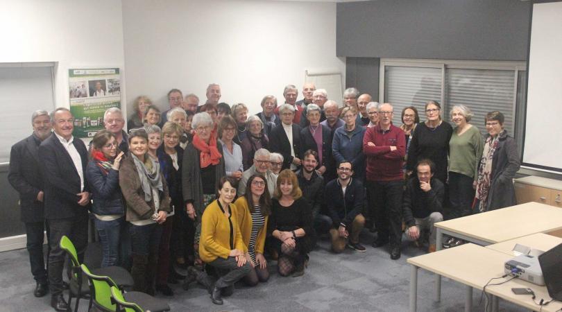 Les bénévoles de PSE Loire-Océan pour la galette 2020