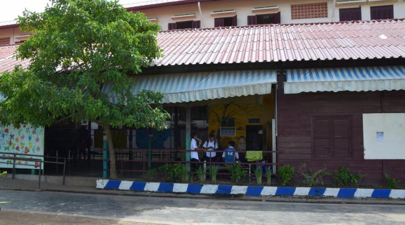 Le bâtiment de l'ECAP où se déroulent les activités extra-scolaires