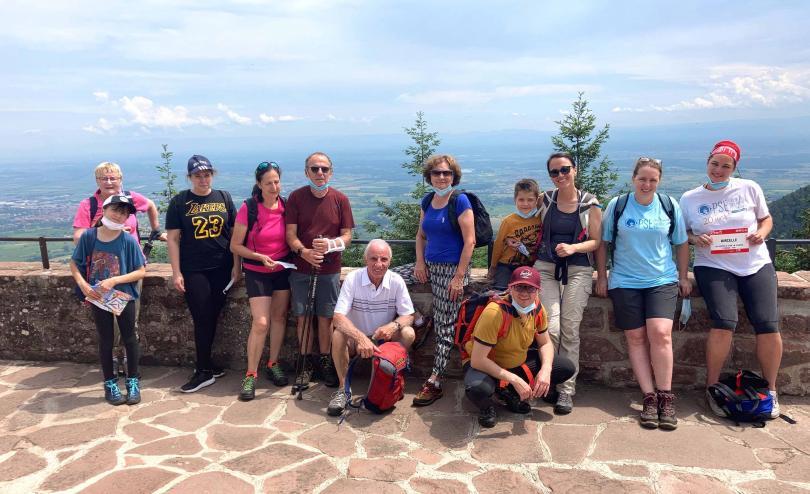 Les bénévoles de PSE Alsace Lorraine en randonnée au Mont Ste Odile