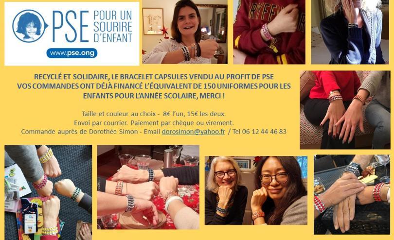 Les bracelets capsules, vendus au profit de PSE
