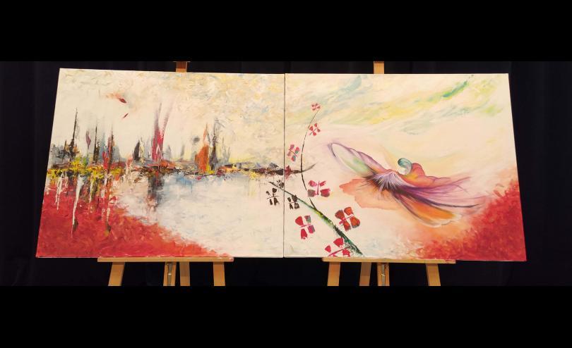 Le tableau sur le renouveau réalisé par cinq peintres